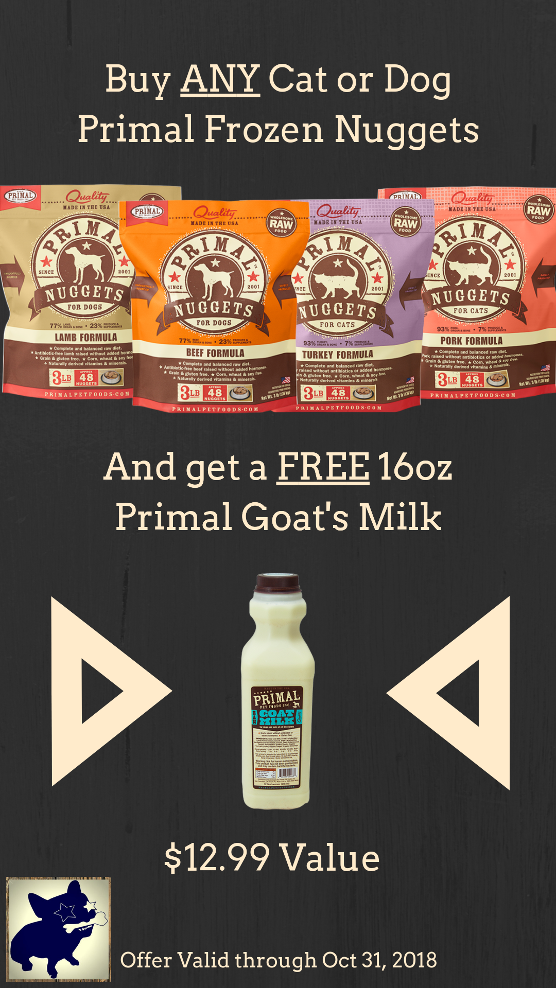 Primal Goat Milk Promo