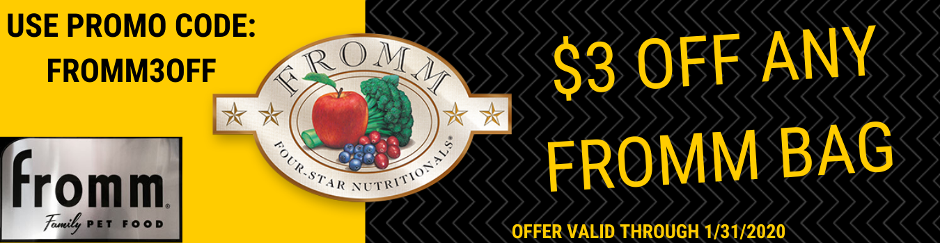 Fromm Family Food Sale at Golf Rose Pet Store