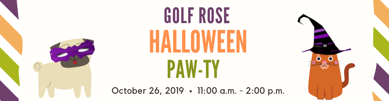 Halloween Paw-ty | Golf Rose Animal Services