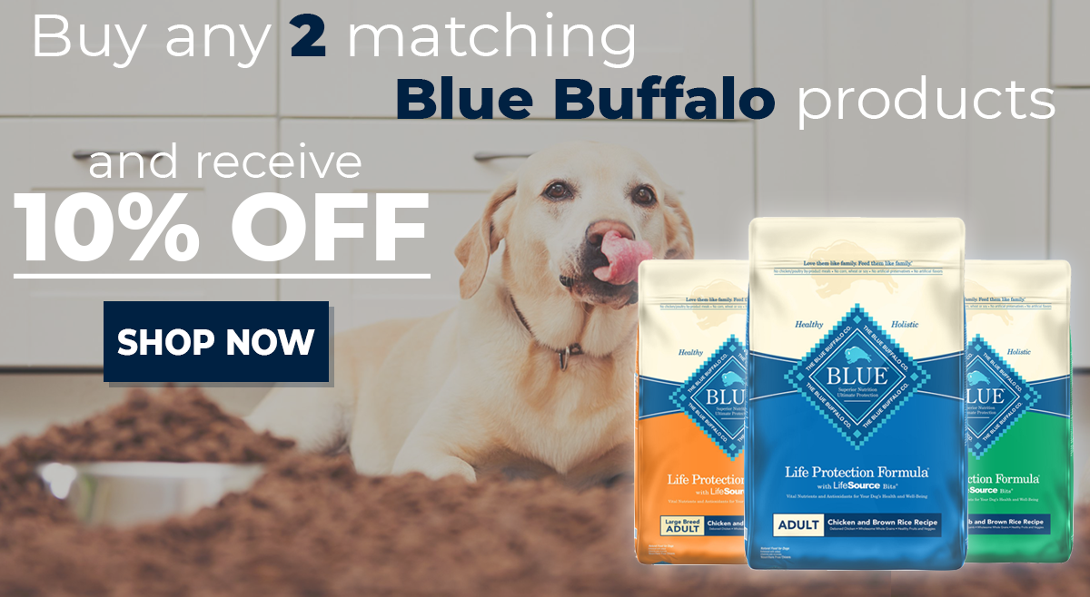 Get 10% Off When You Buy Any 2 Blue Buffalo Items!