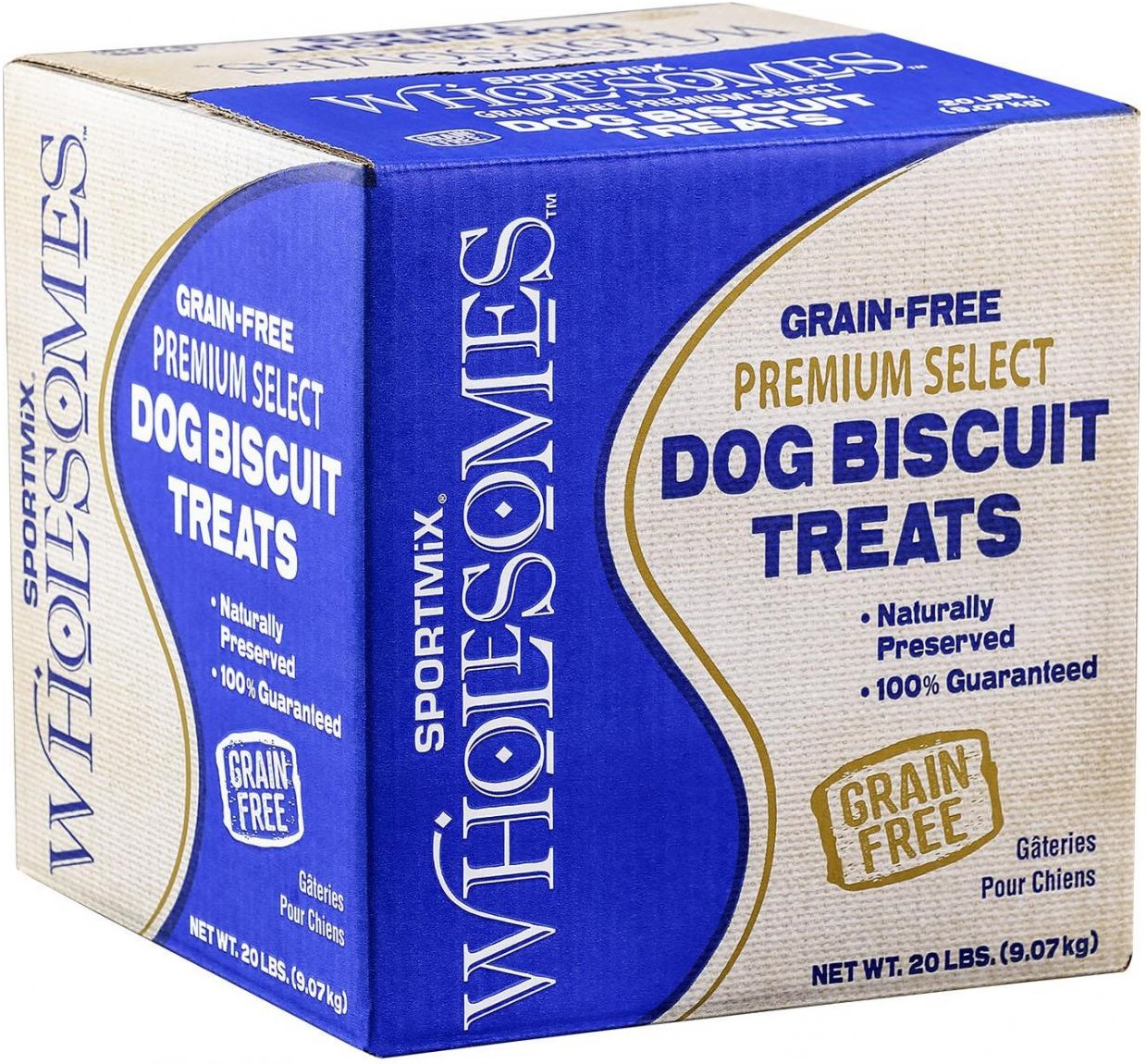 SPORTMiX Wholesomes Grain-Free Premium Gourmet Biscuit with Real Cheddar Cheese Dog Treats, 20-lb