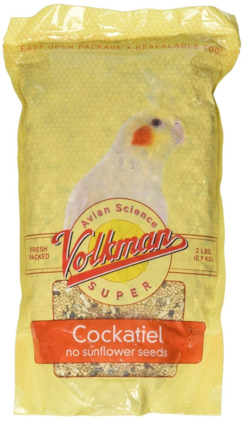 Volkman Avian Science Super Sunflower Seed-Free Cockatiel Food, 2-lb bag