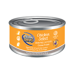 NutriSource Grain Free Chicken Select Wet Cat Food, 5.5-oz
