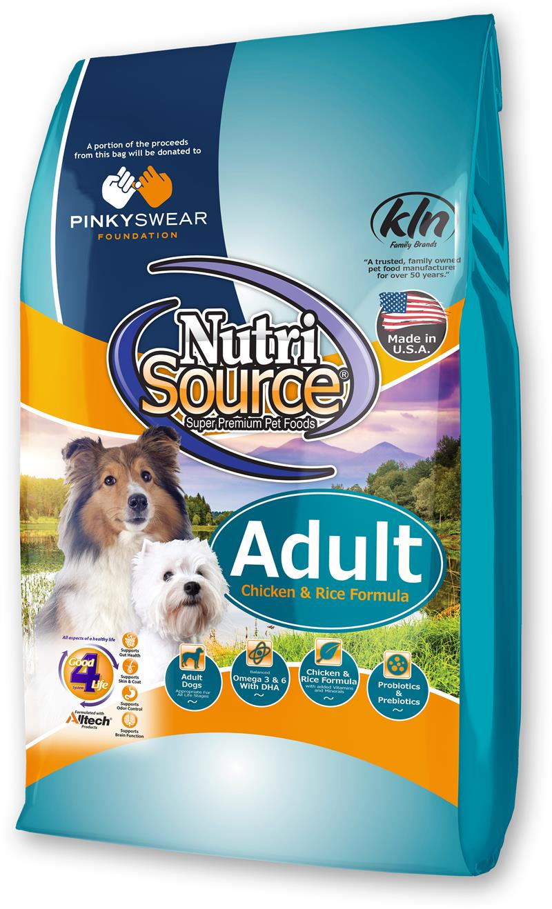NutriSource Adult Chicken and Rice Dry Dog Food, 33-lb (Pinky Swear)