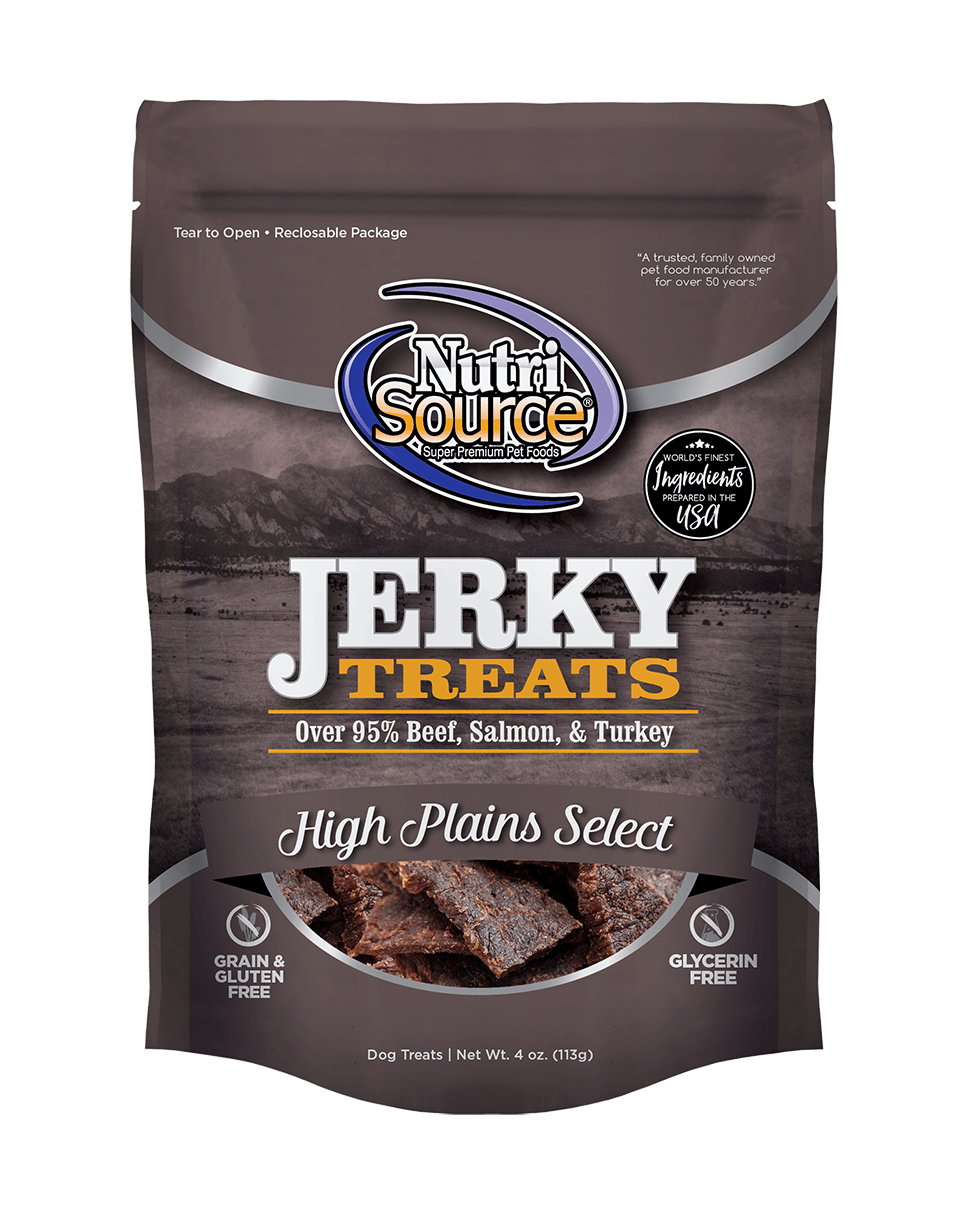 NutriSource Jerky Treats High Plains Select Grain-Free Dog Treats
