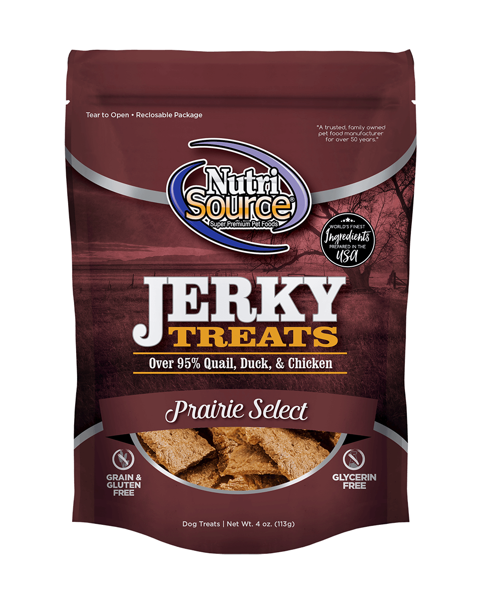NutriSource Jerky Treats Prairie Select Grain-Free Dog Treats