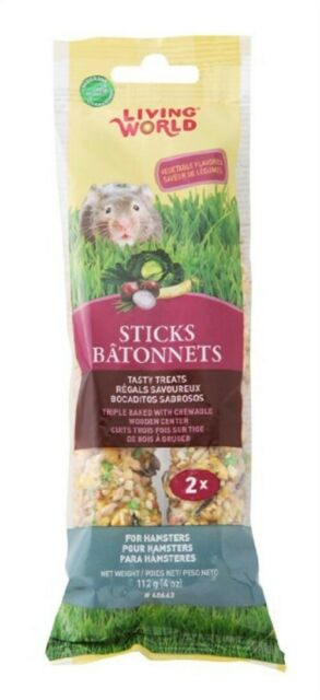 Living World Vegetable Hamster Stick Treats, 2 count