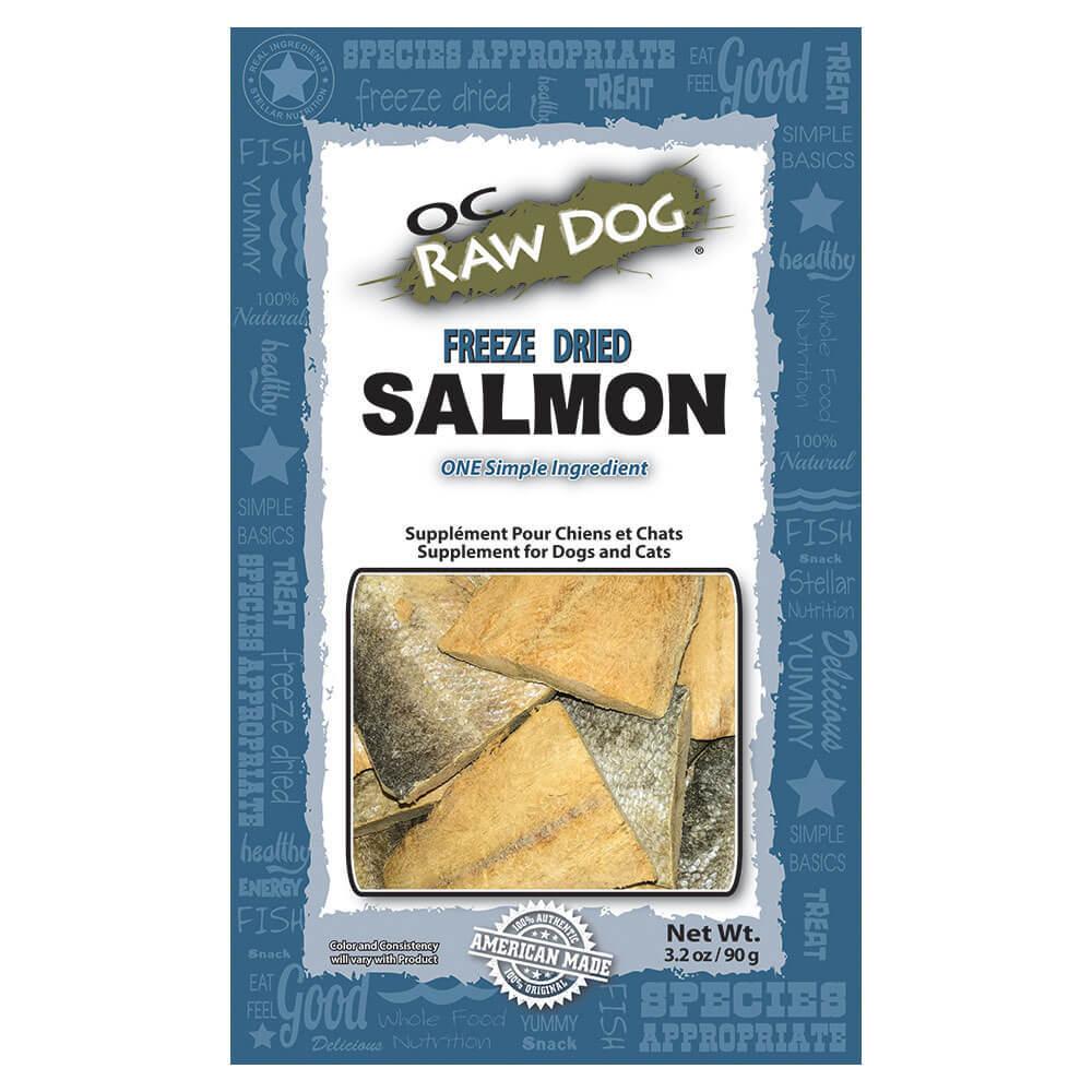 OC Raw Dog Salmon Freeze-Dried Treats, 3.2-oz