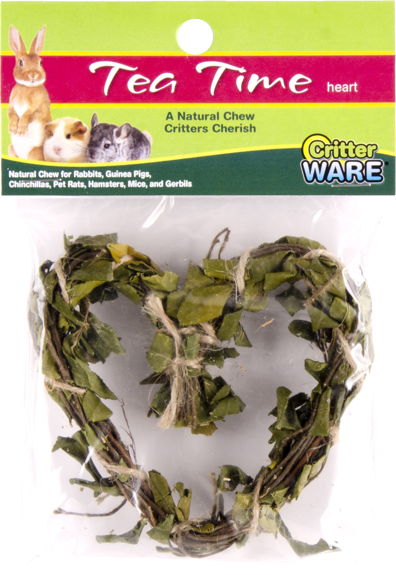 Ware Tea Time Heart, Tooth Trimming Dental Chew for Small Pets