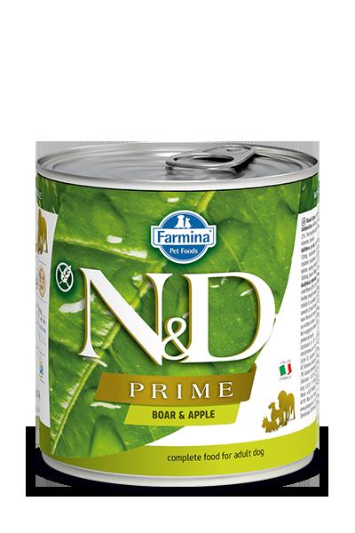 Farmina Natural & Delicious Prime Boar & Apple Wet Dog Food, 10-oz