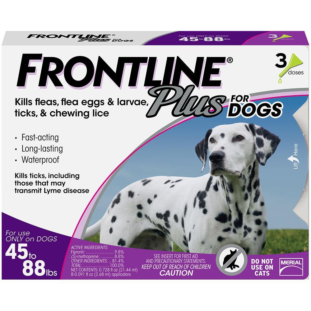 FRONTLINE Plus Flea & Tick Treatment for Large Dogs (45-88 pounds)