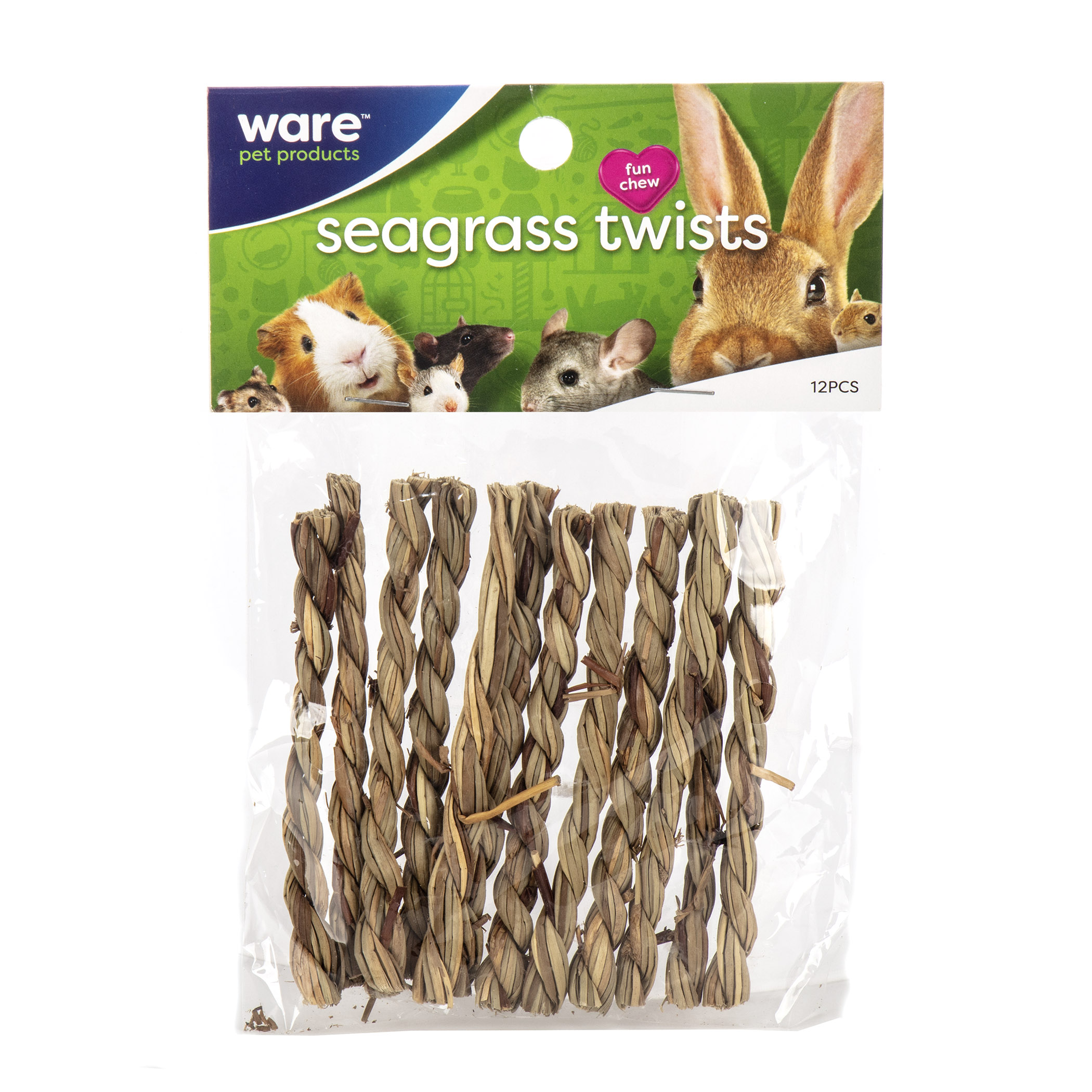 Ware Seagrass Twists, Sundried Small Pet Chew Toy, 12 count