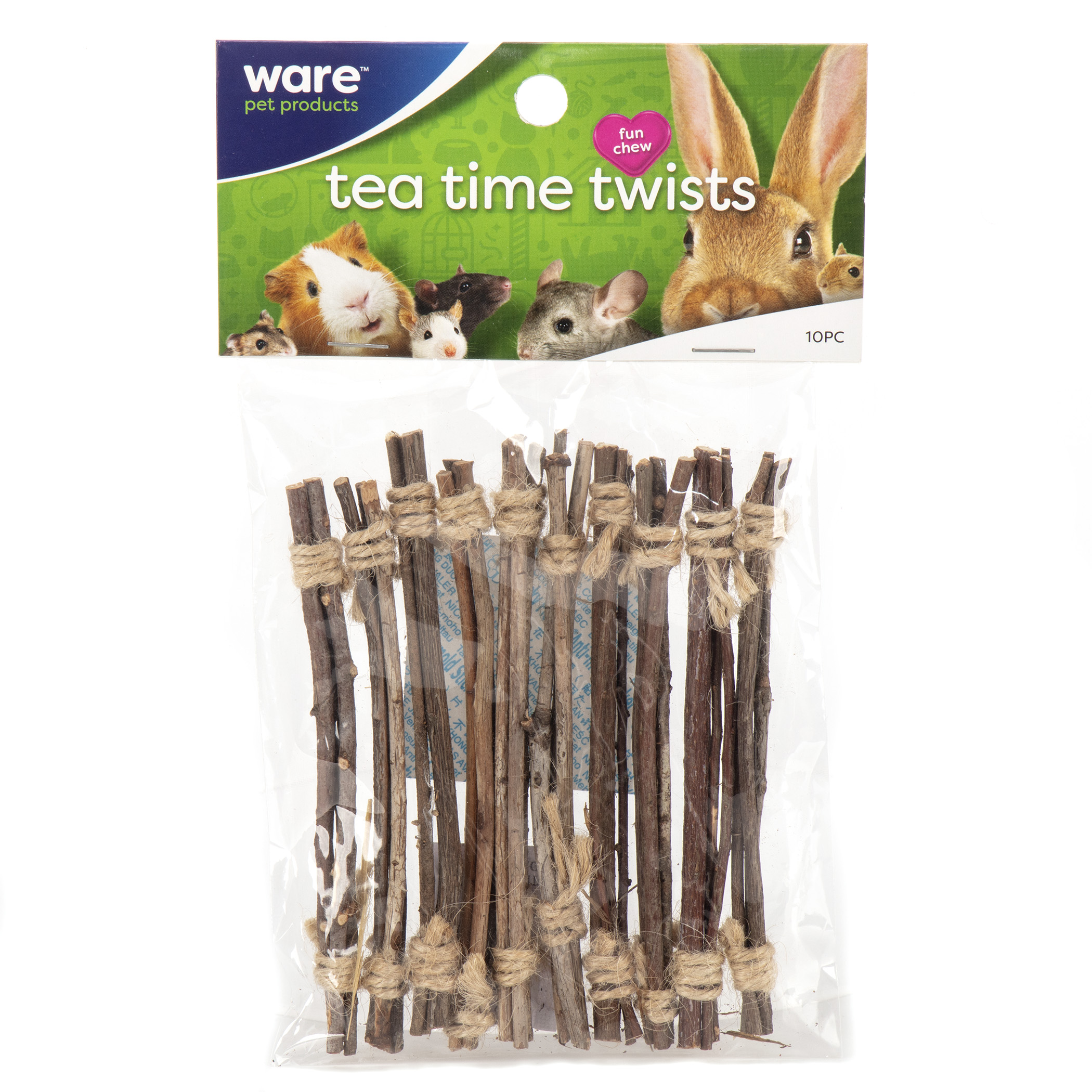 Ware Tea Time Twists, Tooth Trimming Twigs for Small Pets