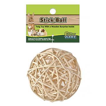 Ware Stick Ball, Small Pet Twig Toy
