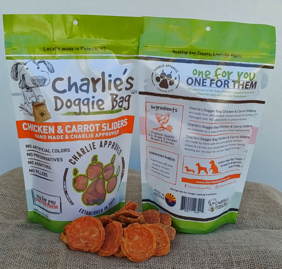 Charlie's Doggie Bag Chicken & Carrot Dog Sliders Treat