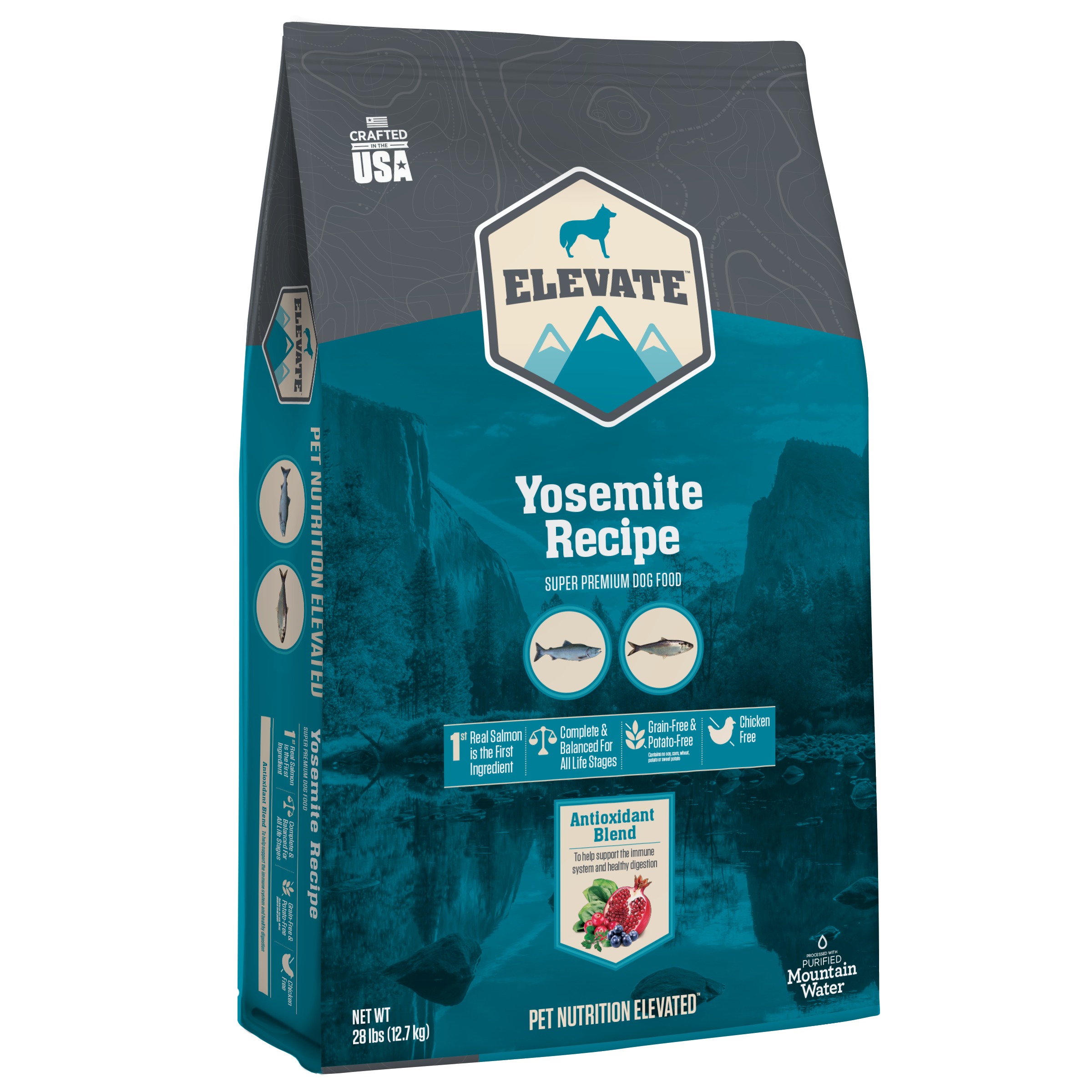 Elevate Yosemite Fish Recipe Super Premium Grain-Free Dry Dog Food, 28-lb