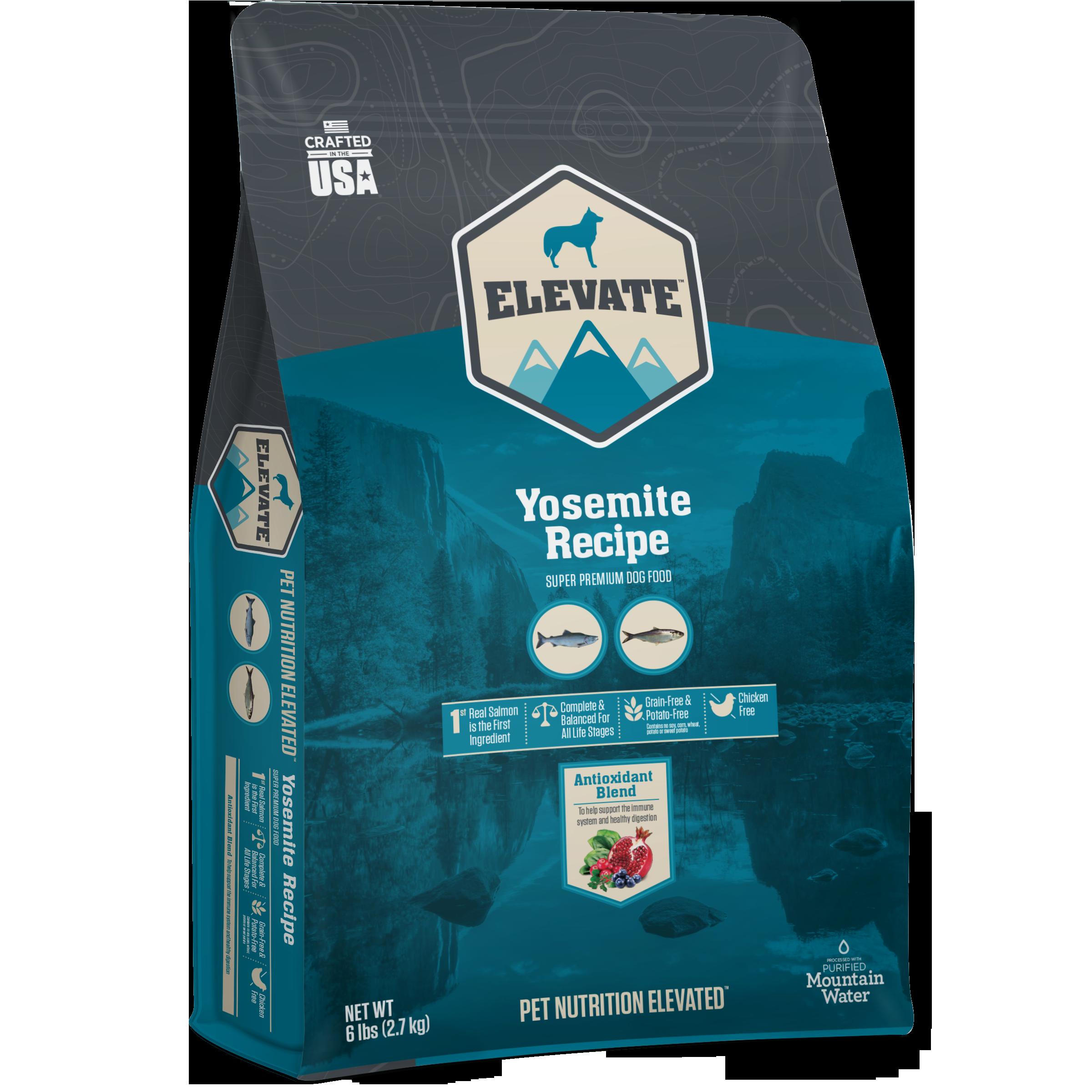 Elevate Yosemite Fish Recipe Super Premium Grain-Free Dry Dog Food, 6-lb
