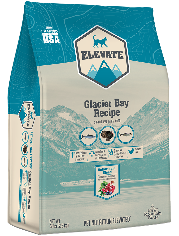 Elevate Glacier Bay Recipe Super Premium Dry Cat Food, 5-lb
