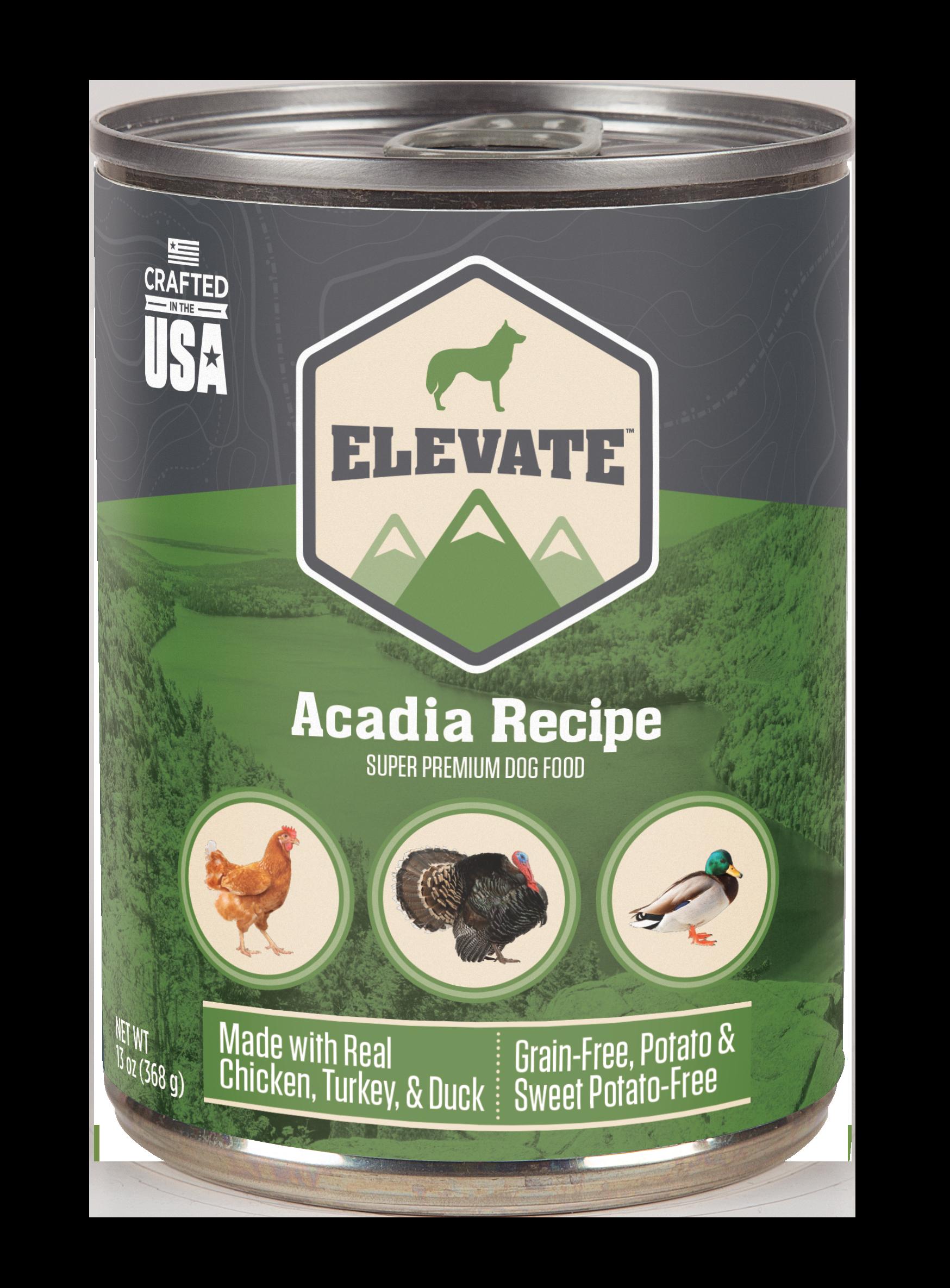 Elevate Acadia Fowl Recipe Super Premium Wet Dog Food, 13-oz, case of 12