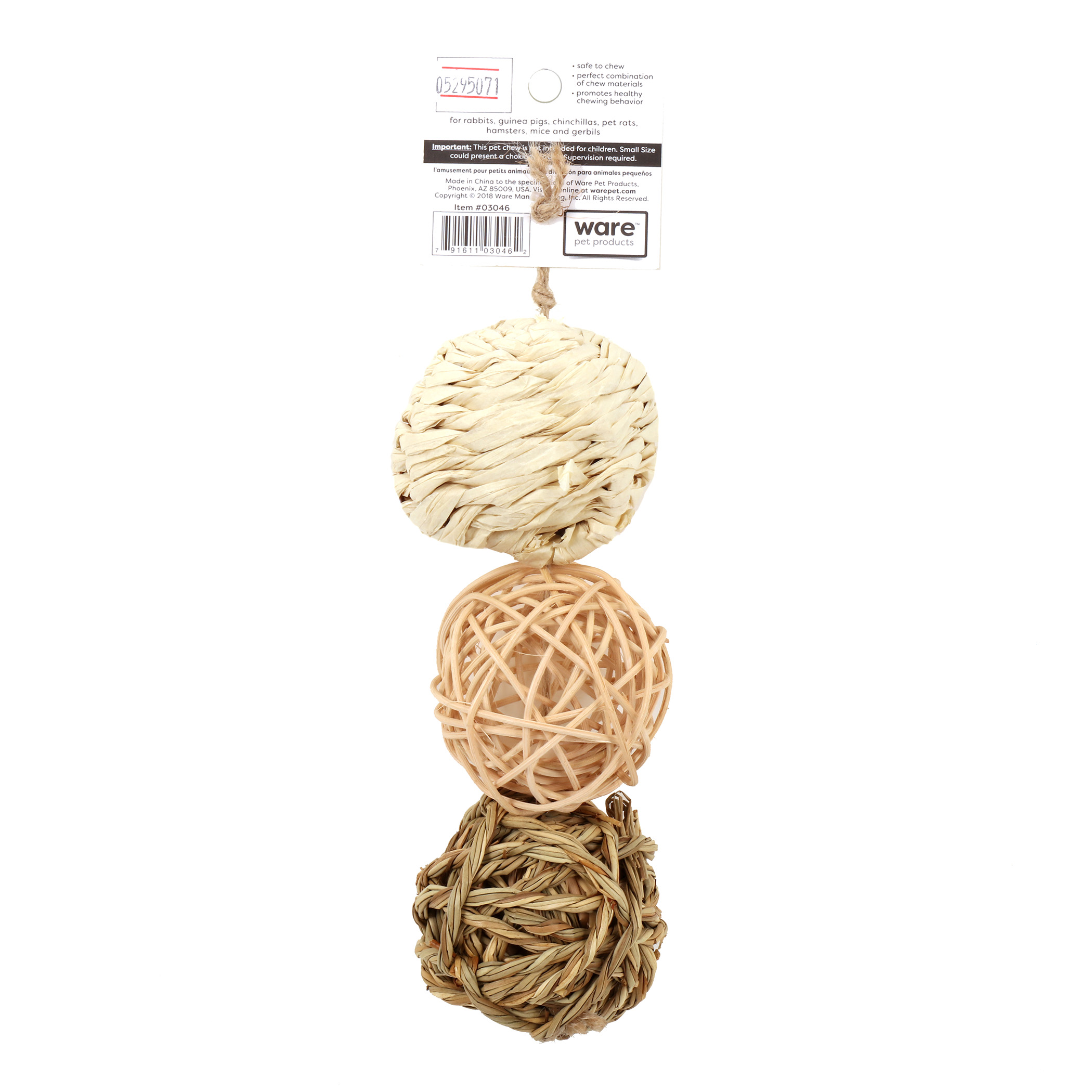 Ware Nature Ball, Small Pet Toy, 3 pack