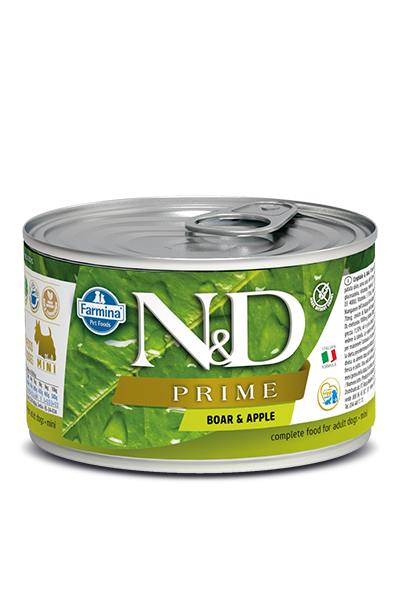 Farmina Natural & Delicious Prime Boar & Apple Wet Dog Food, 4.9-oz