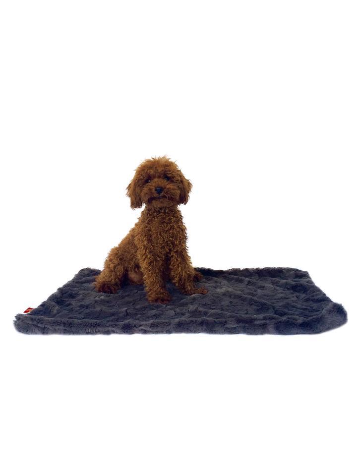 The Dog Squad Minkie Binkie Blanket, Bella Charcoal, Square