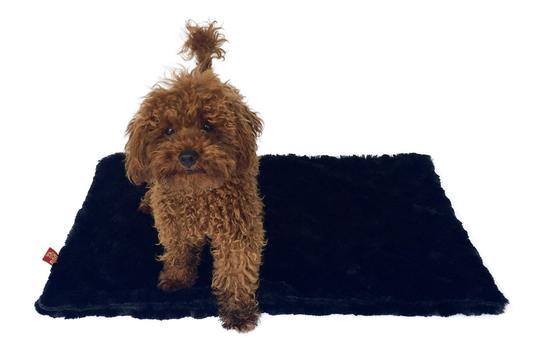 The Dog Squad Minkie Binkie Blanket, Bella Black, Square