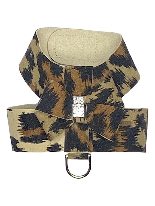The Dog Squad Hollywood Bow Dog Harness, Leopard, Small