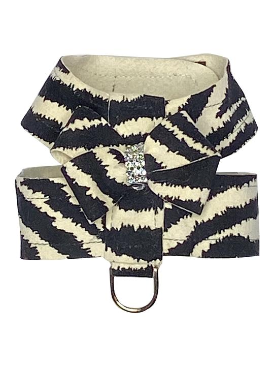 The Dog Squad Hollywood Bow Dog Harness, Zebra, XX-Small