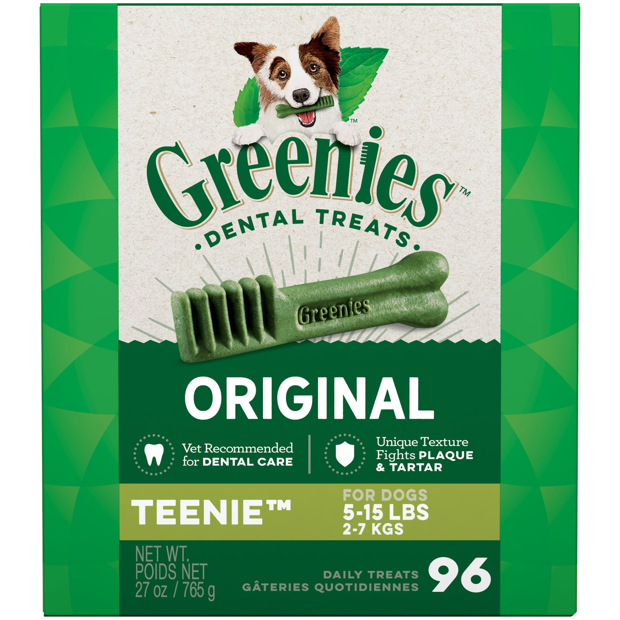 Greenies Original Teenie Dental Dog Treats, 96-count