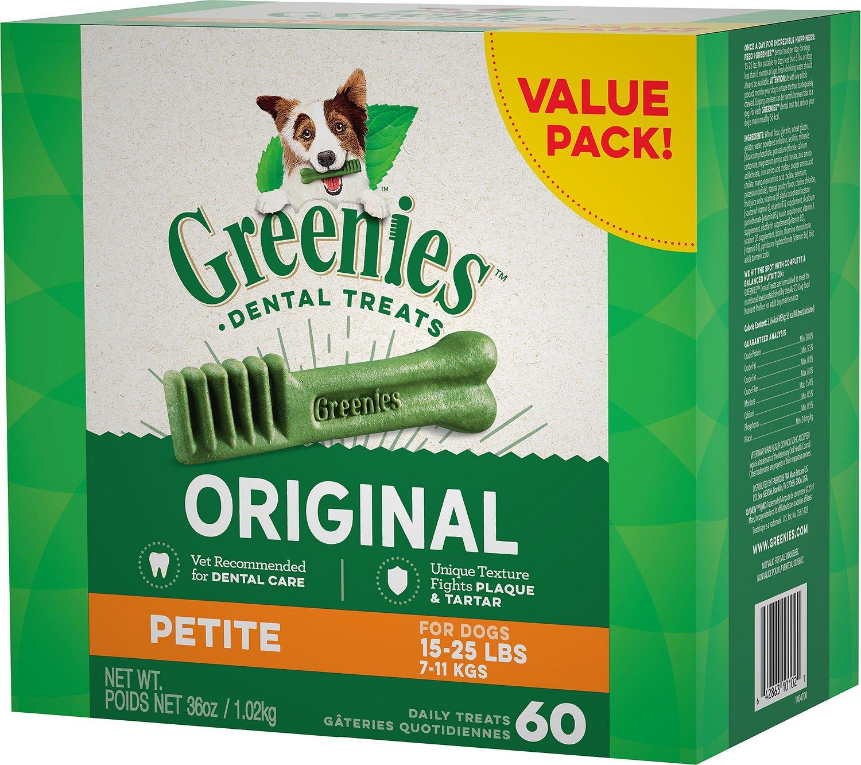 Greenies Original Petite Dental Dog Treats, 60-count