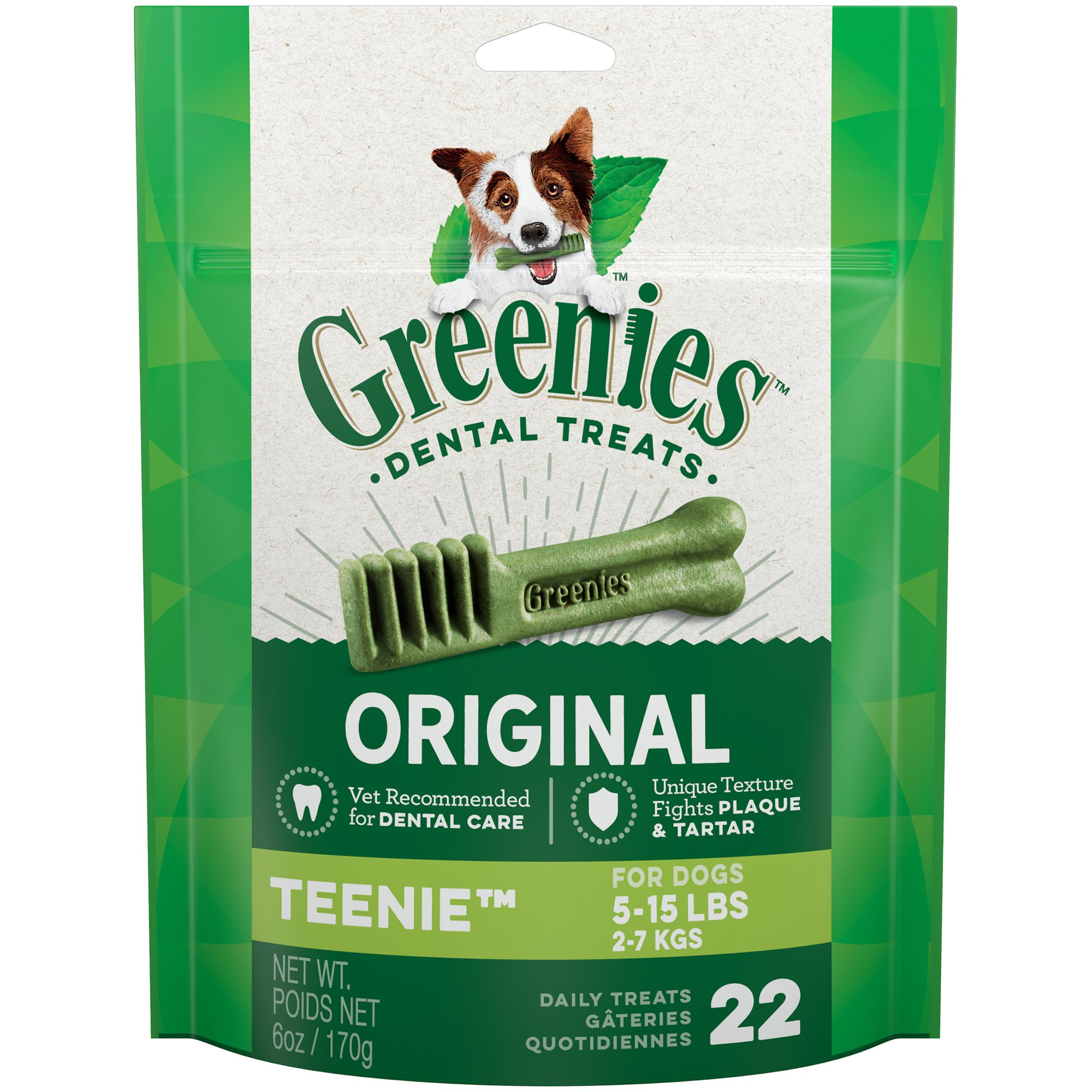 Greenies Original Teenie Dental Dog Treats, 22-count