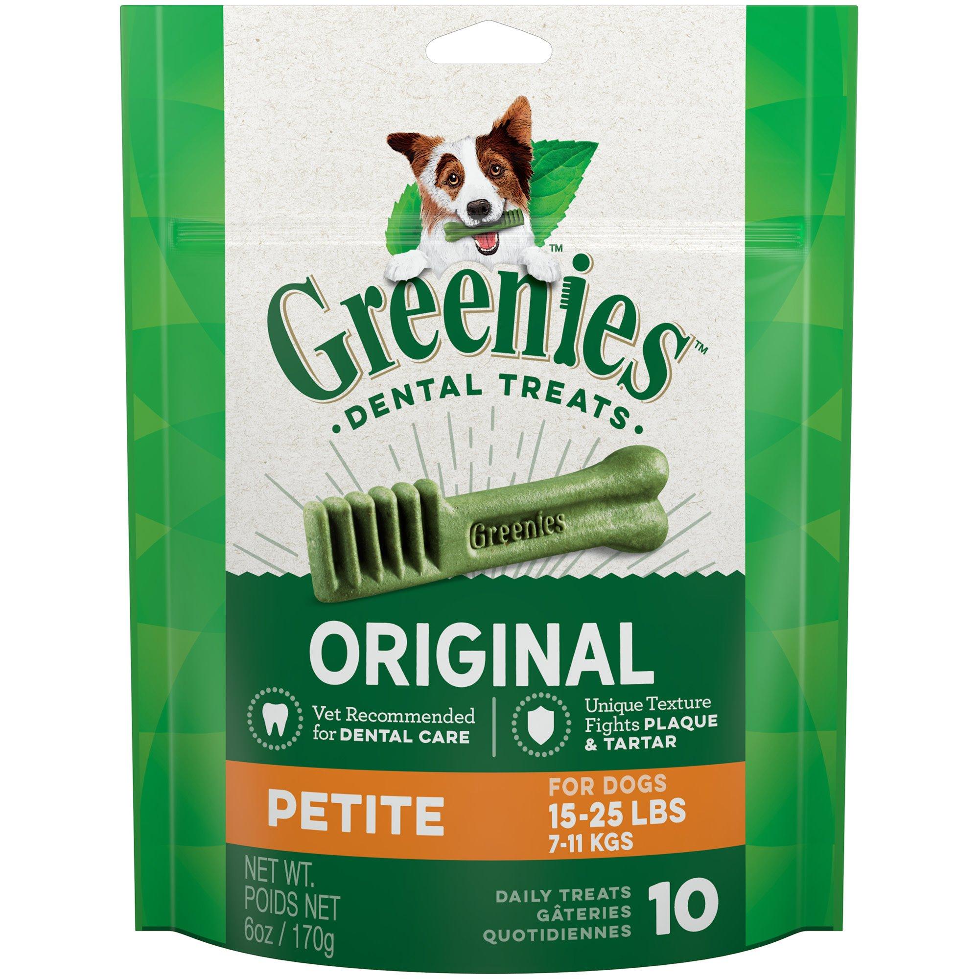 Greenies Original Petite Dental Dog Treats, 10-count