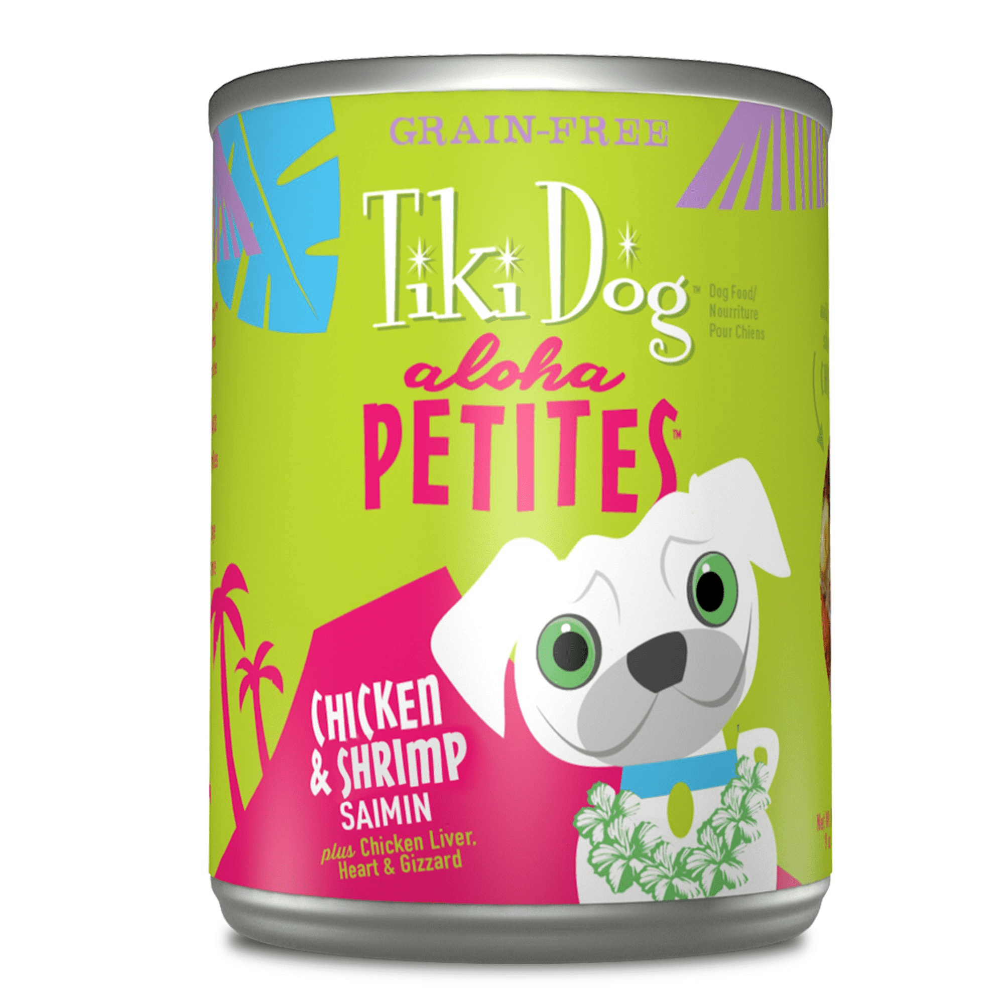 Tiki Dog Aloha Petites Chicken & Shrimp Saimin Grain-Free Dog Food Can, 9-oz