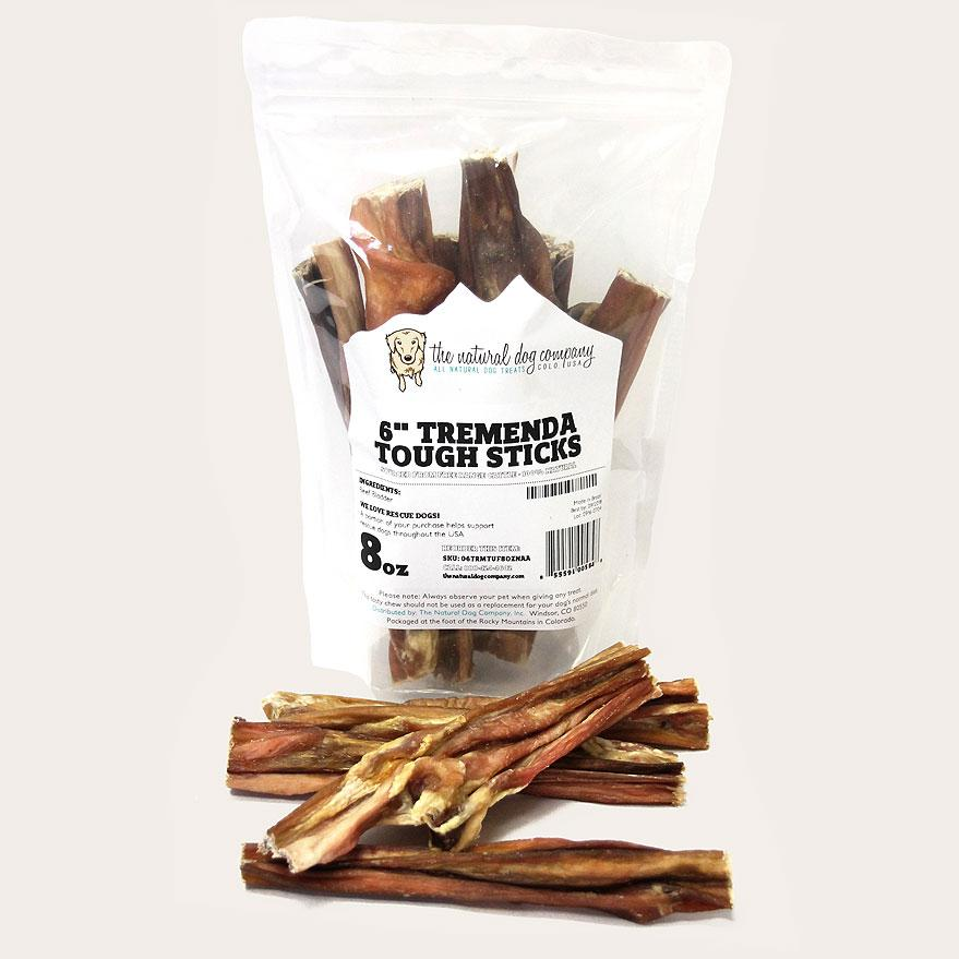 "The Natural Dog Company 6"" Tremenda Tough Stick Dog Treats, 8-oz"