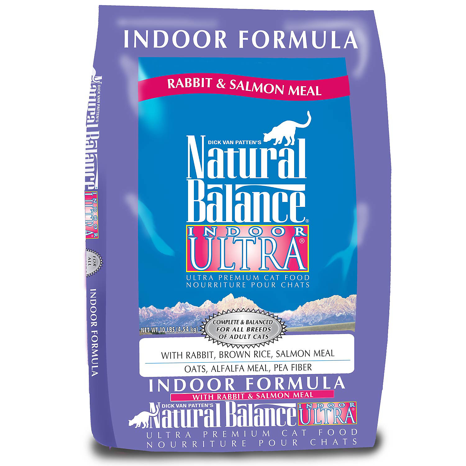 Natural Balance Indoor Ultra Rabbit & Salmon Meal Formula Dry Cat Food, 5-lb