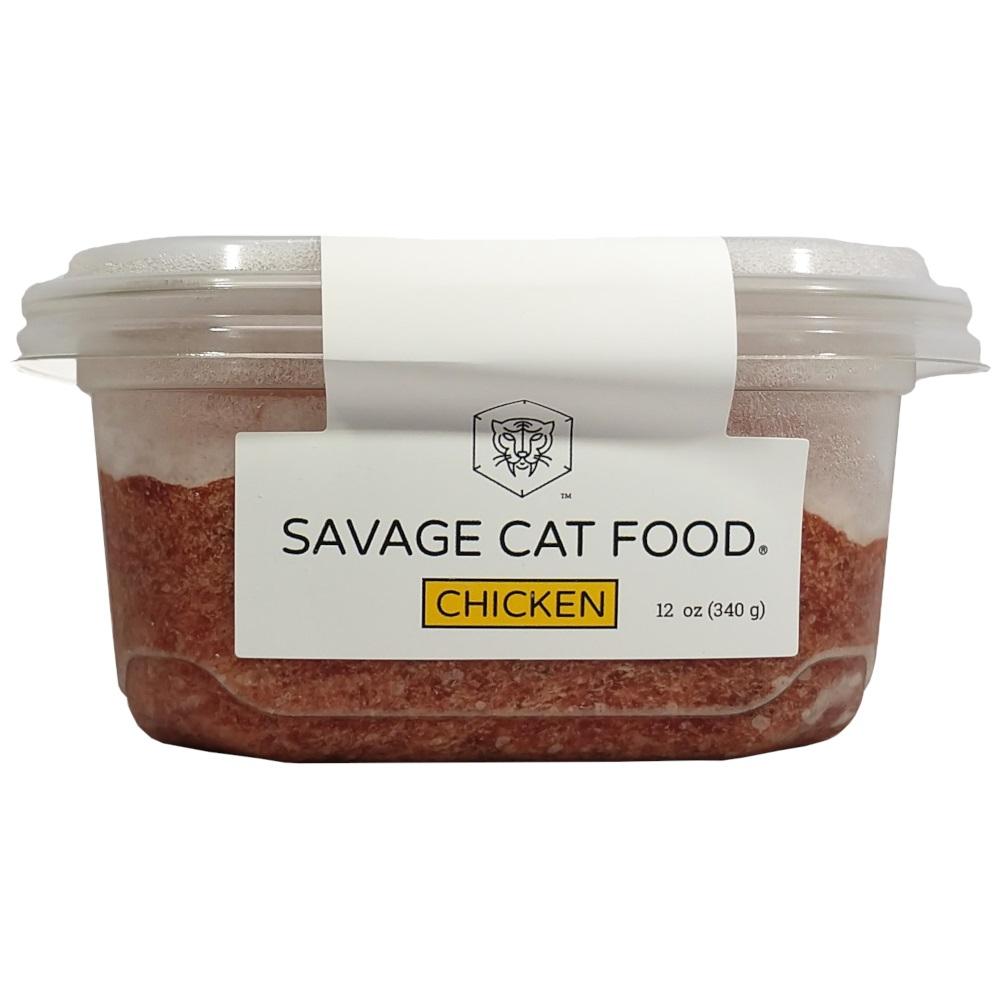 Savage Cat Food Chicken Raw Frozen Cat Food