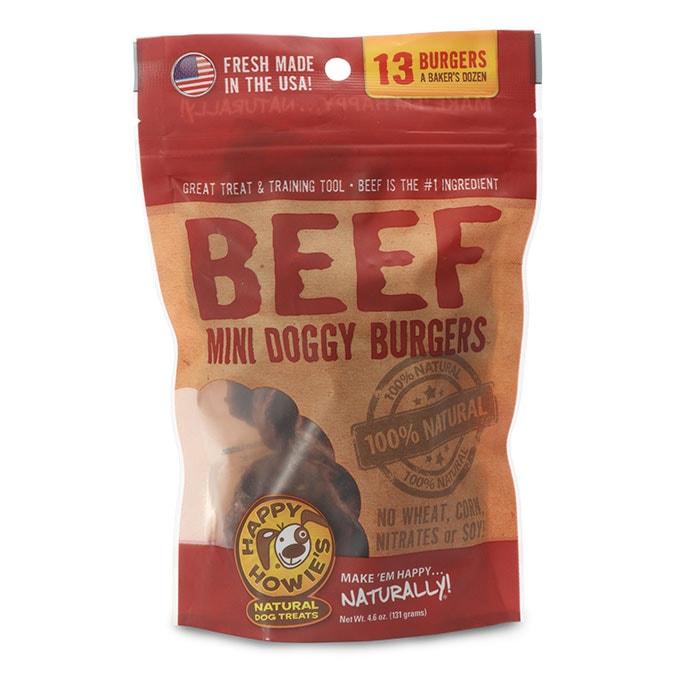 Happy Howie's Beef Burgers Dog Treat, 2-in, 13-count