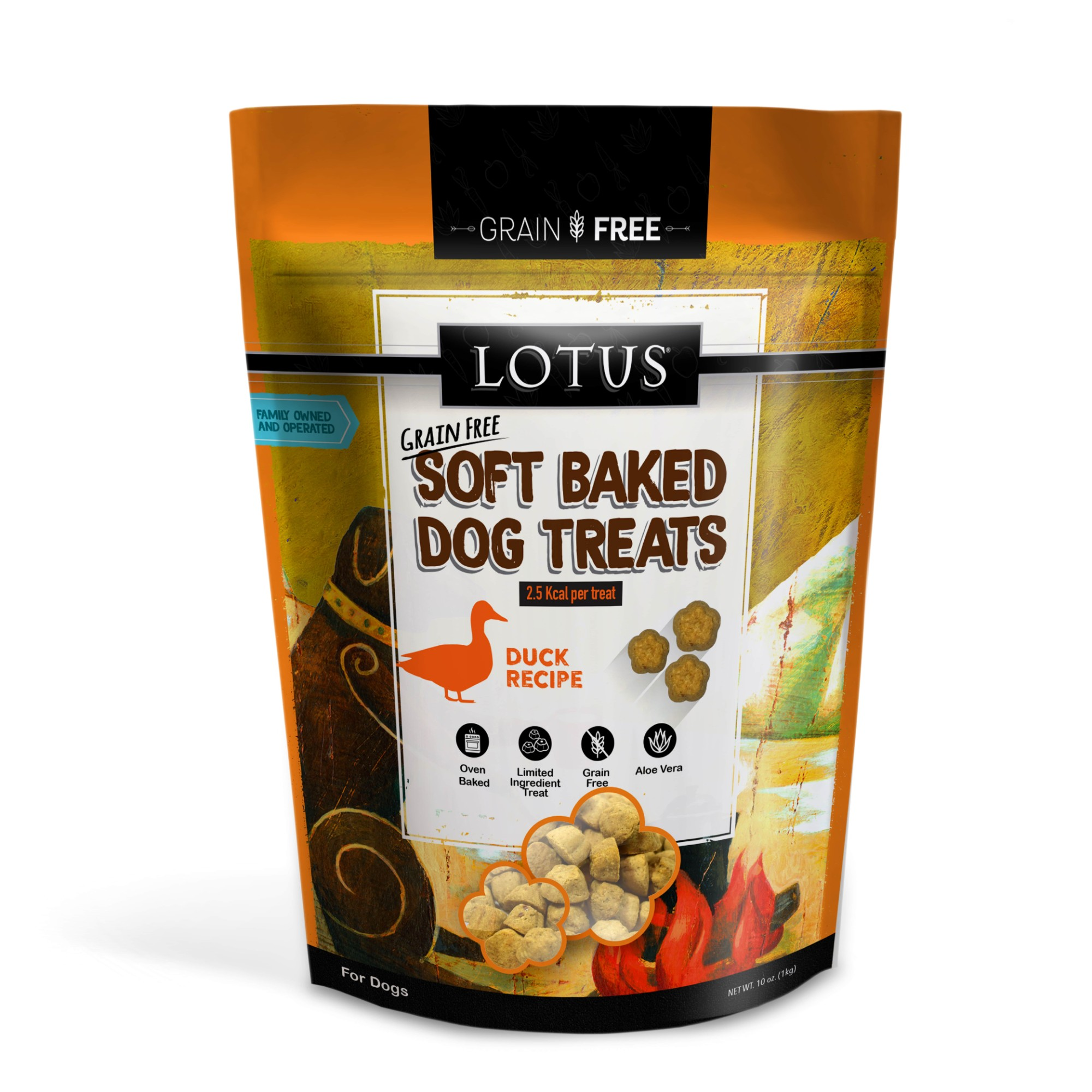 Lotus Soft-Baked Duck Recipe Grain-Free Dog Treats, 10-oz bag
