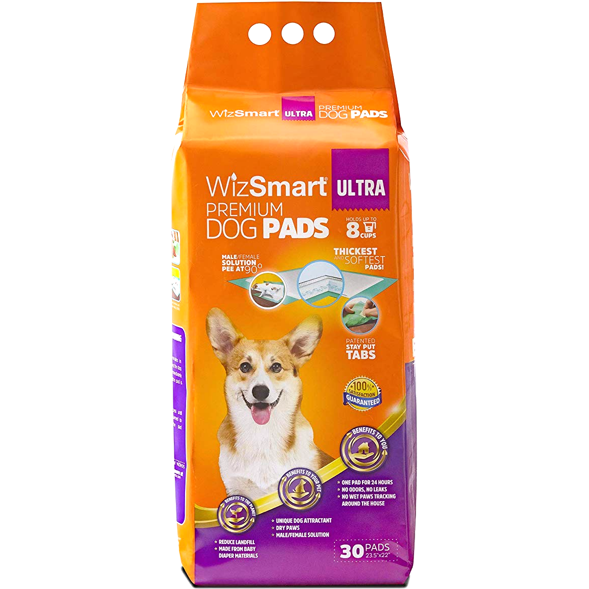 Wizsmart Ultra Dog Pad, 30-count