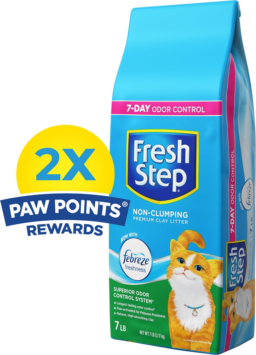 Fresh Step Scented Non-Clumping Clay Cat Litter with Febreeze, 7-lb bag