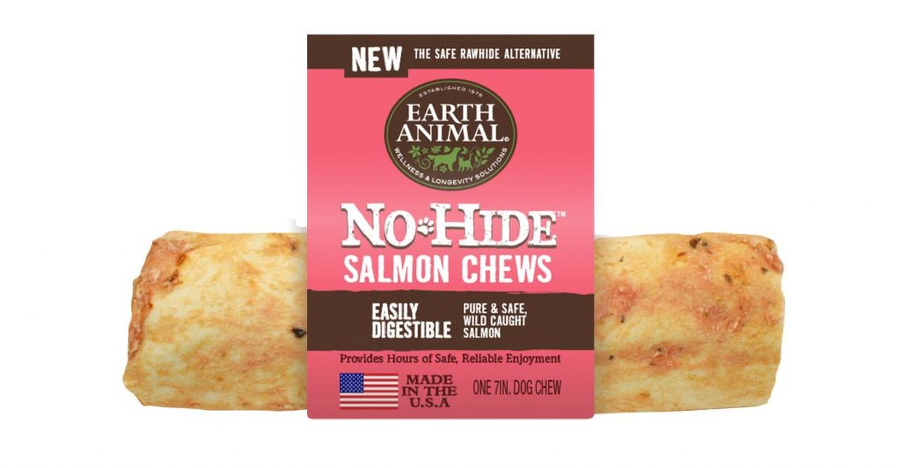 Earth Animal No-Hide Salmon Chew Dog Treat, 7-in