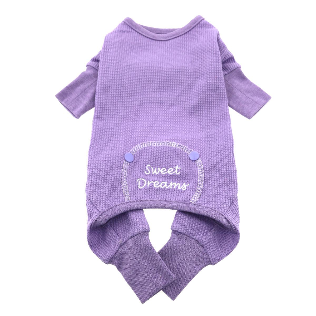 Doggie Design Thermal Pajamas for Dogs, Sweet Dreams, Lilac, X-Small