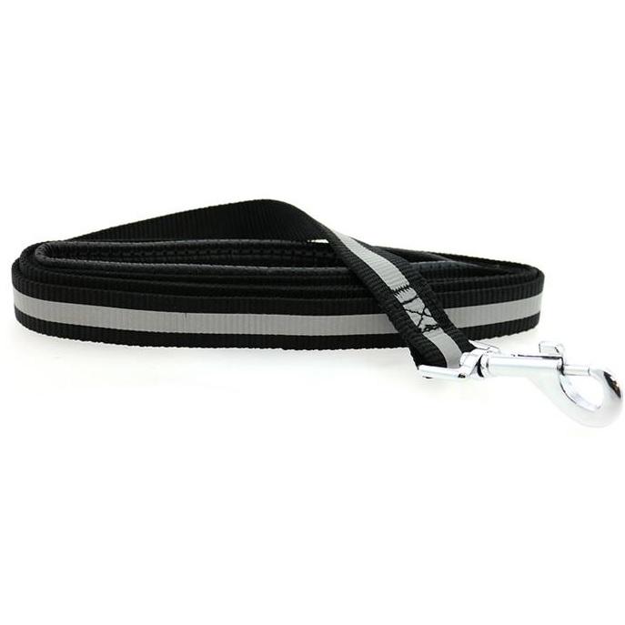 Doggie Design Basic Reflective Dog Leash, 5-ft x 3/4-in, Black