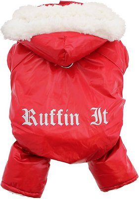 Doggie Design Ruffin It Dog Snow Suit Harness, Red, Large