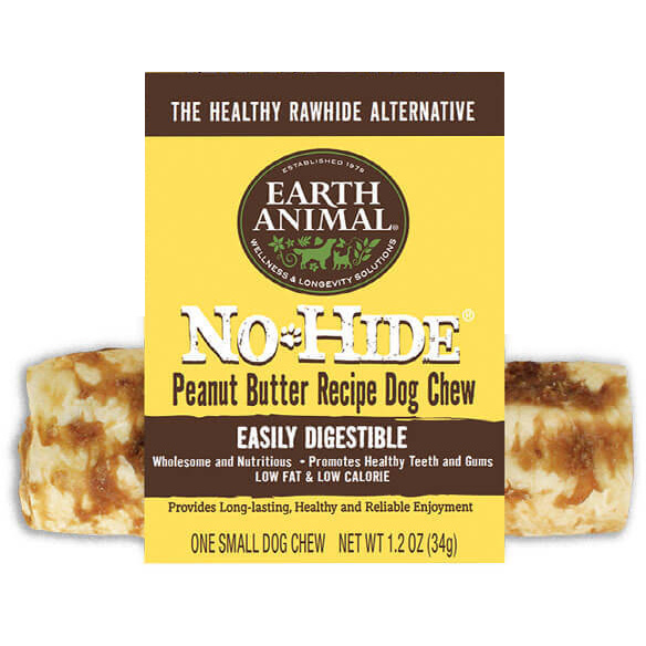 Earth Animal No-Hide Peanut Butter Chew Dog Treats, 4-in