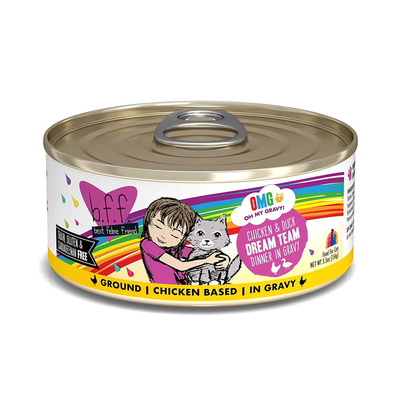 BFF Oh My Gravy! Dream Team! Chicken & Duck Dinner in Gravy Grain-Free Wet Cat Food, 5.5-oz
