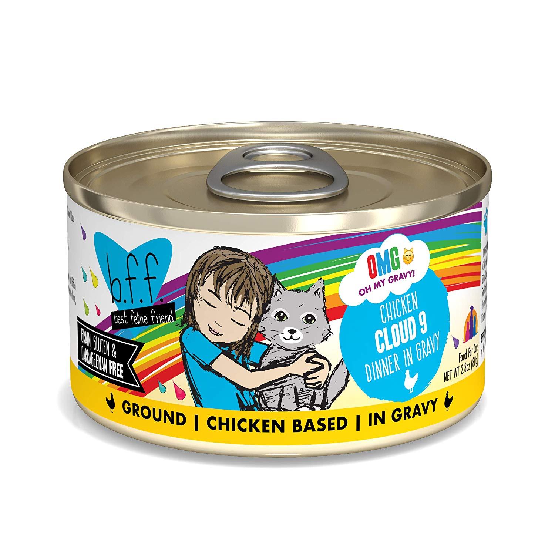 BFF Oh My Gravy! Cloud 9! Chicken Dinner in Gravy Grain-Free Wet Cat Food, 2.8-oz