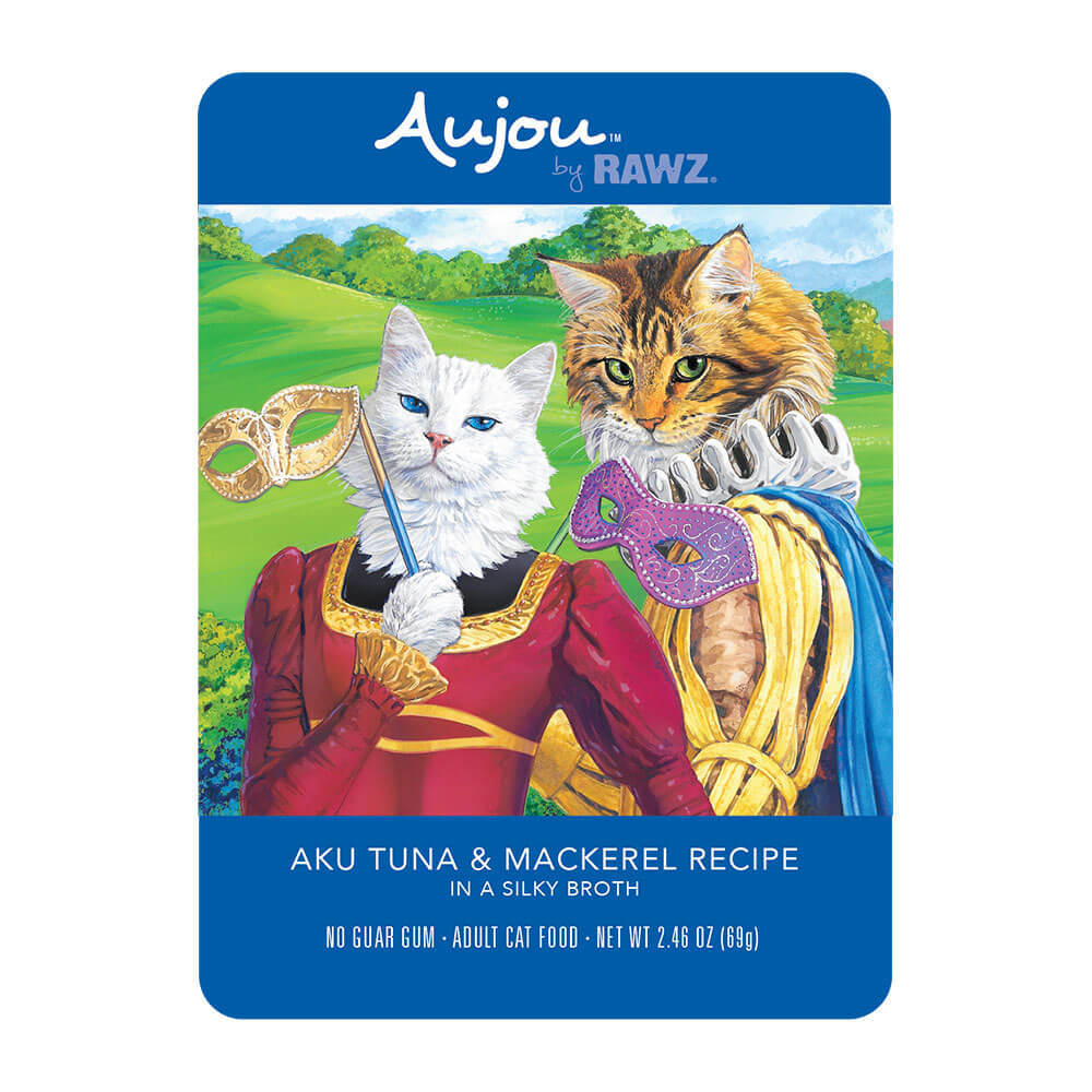 Aujou Cat Aku Tuna & Mackerel Wet Cat Food