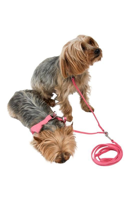 The Dog Squad Ultra Suede Leash, 4-ft, Bubblegum